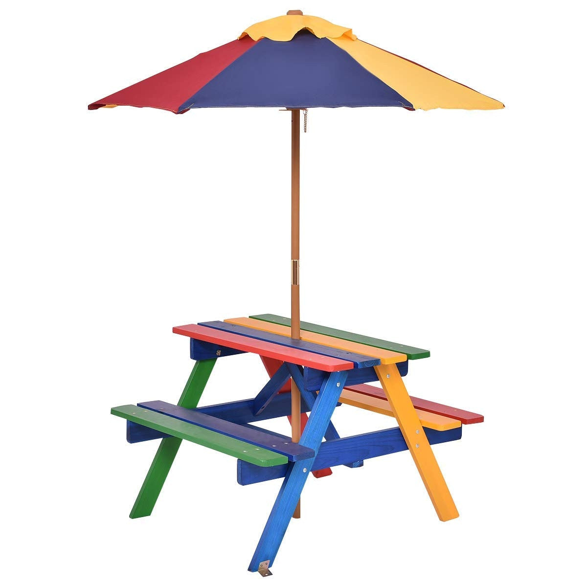 Sully & Rye Kids Picnic Table with Umbrella
