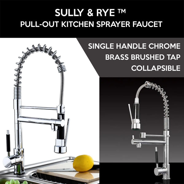 Sully & Rye™ Copper Pull Down Kitchen Faucet with Sprayer