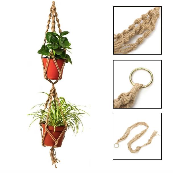 Sully & Rye™ Double Macrame Plant Hanger