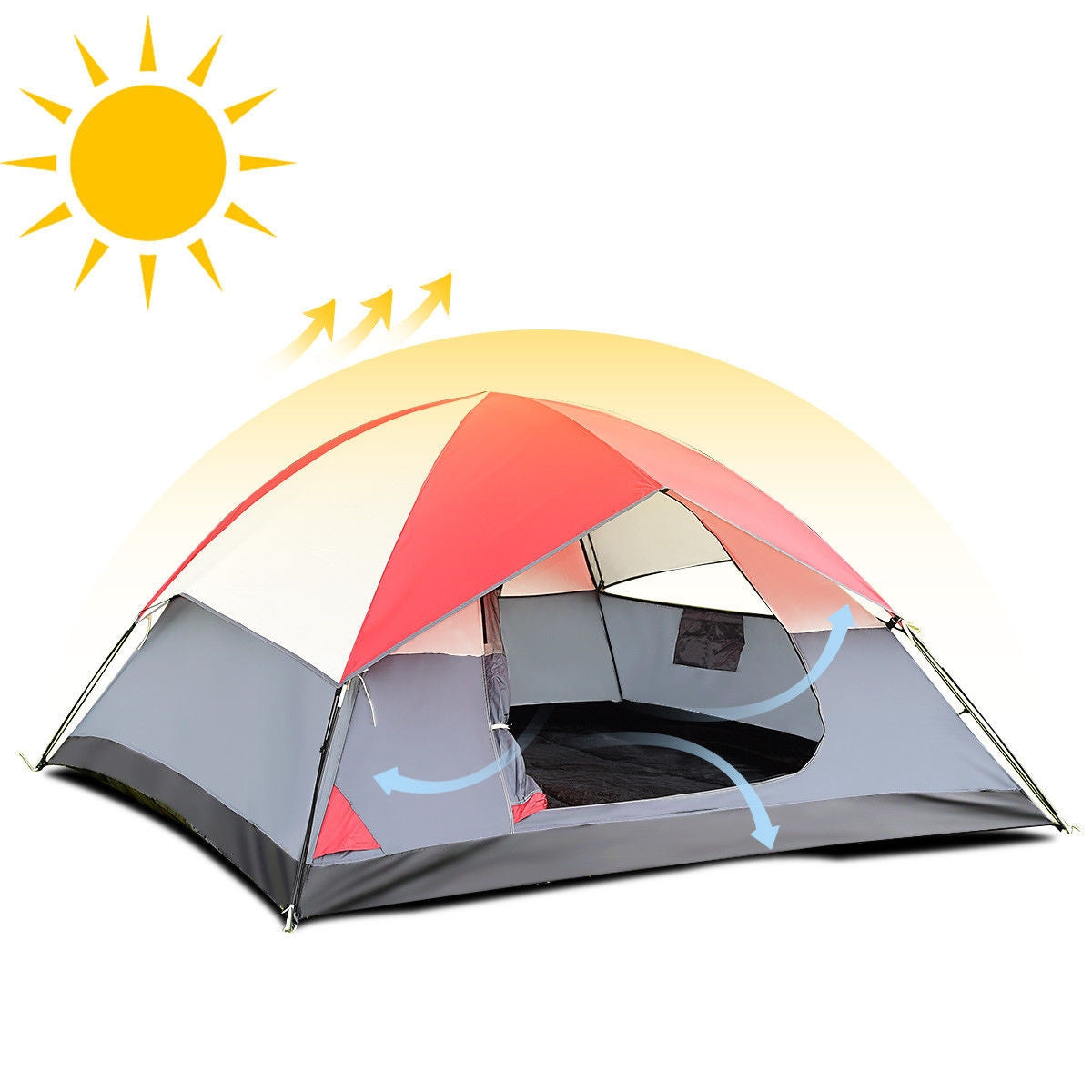 4 person camping tent airflow