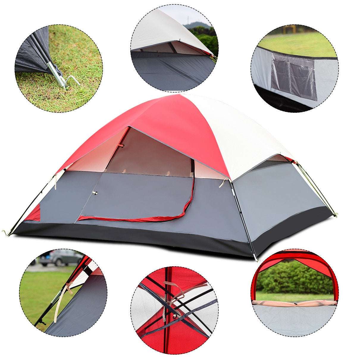 4 person camping tent features