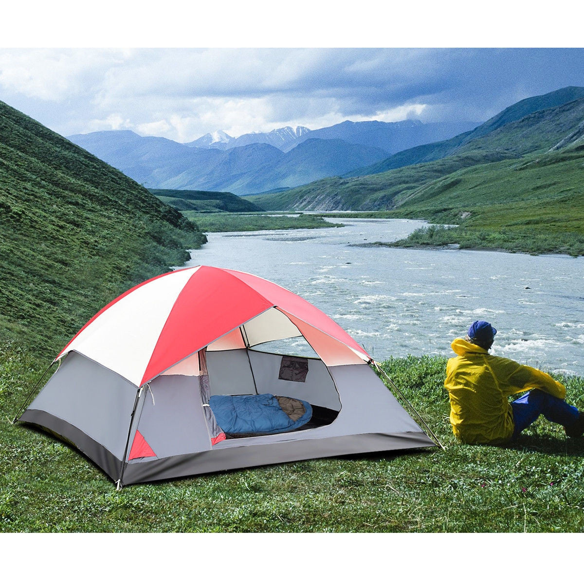 4 Person Camping Tent outdoors