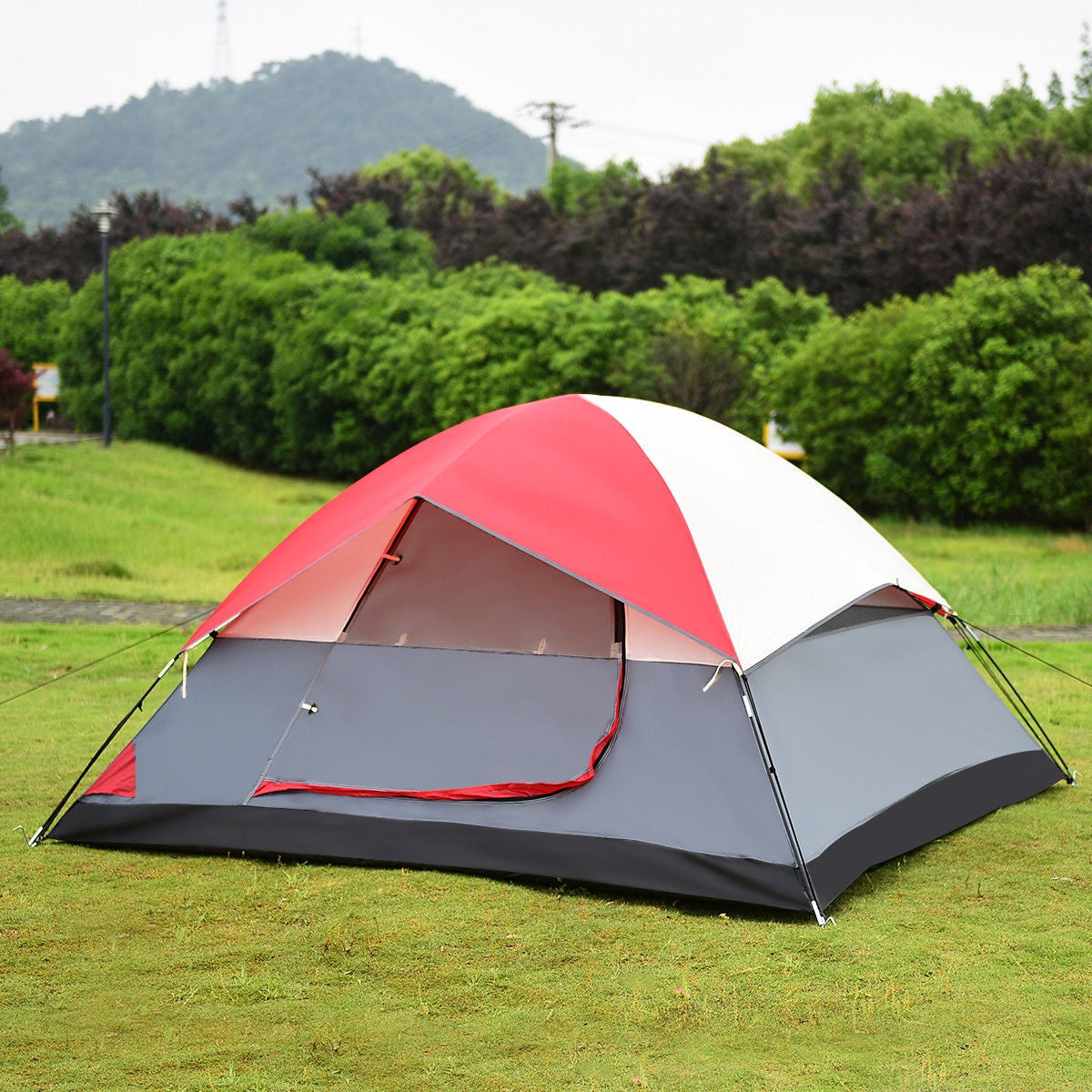 4 person camping tent waterproof windproof