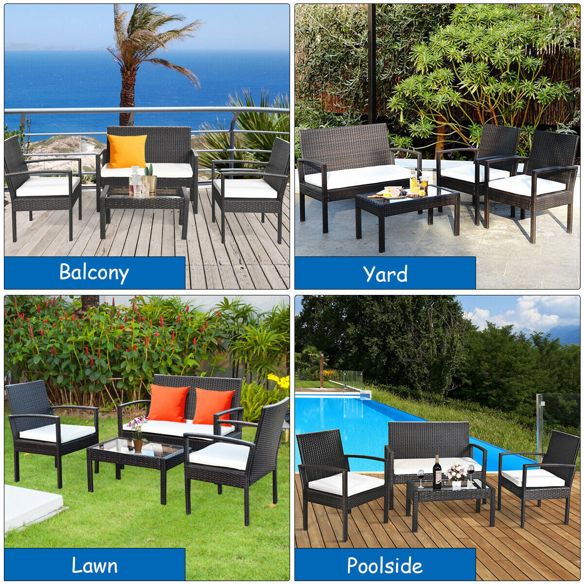 patio furniture set fits anywhere