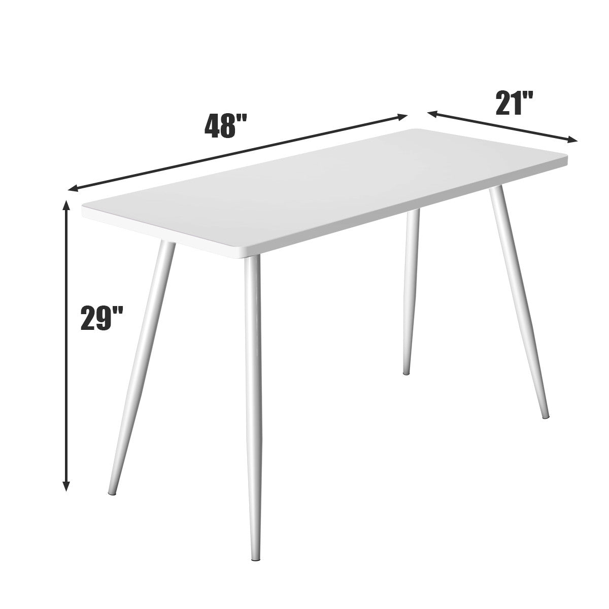 Writing Desk Small White Table Modern fits anywhere