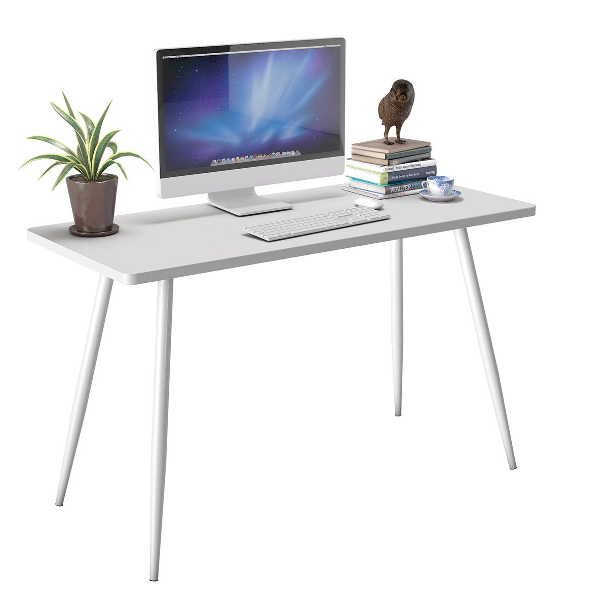 writing desk small white table modern stylish simple