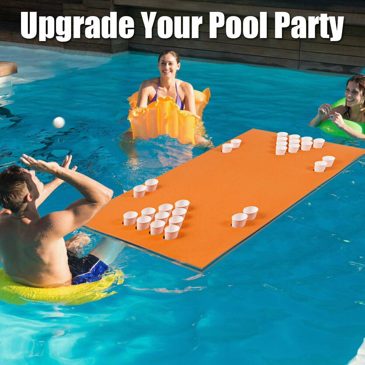 floating beer pong table adult pool toys