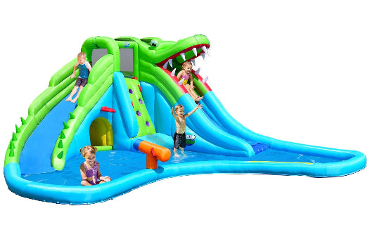 inflatable slide with pool for kids bounce house toddler playing