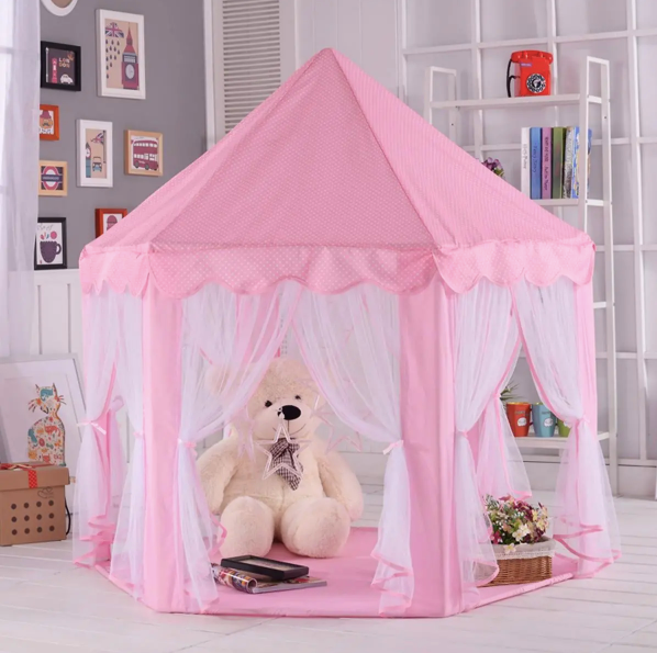 Princess play tent in kids room