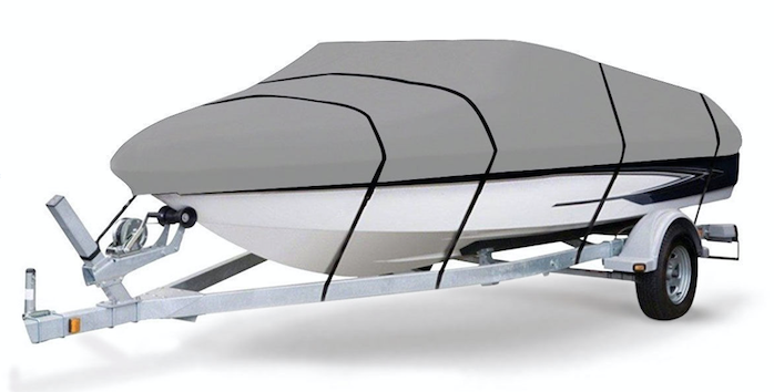 Canvas Boat Cover Heavy Duty with Straps ALL WEATHER