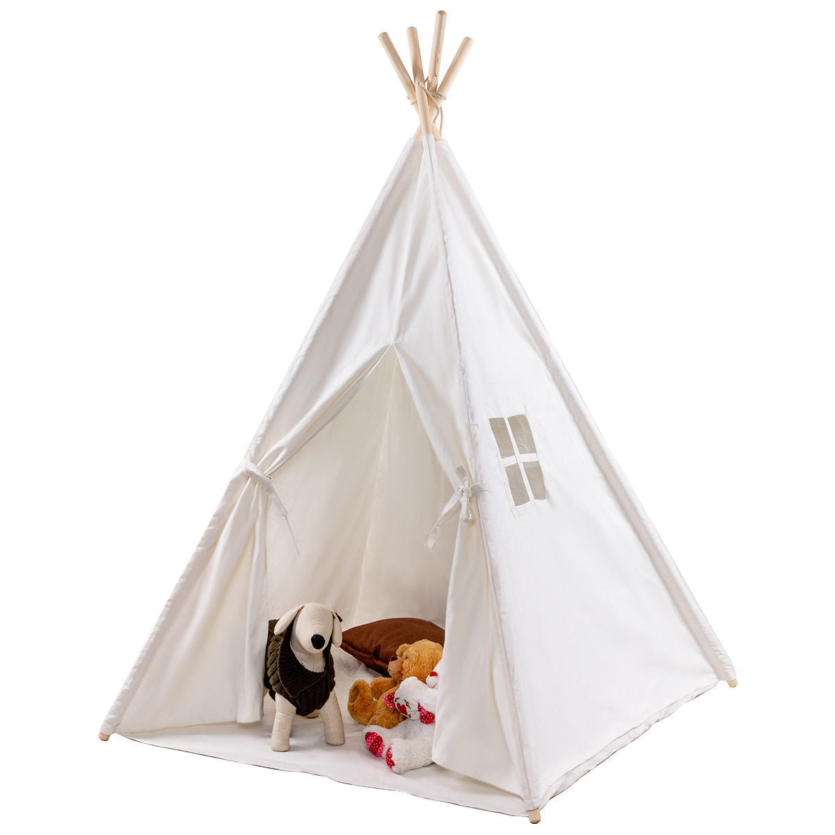 customizable white tent play teepee for kids