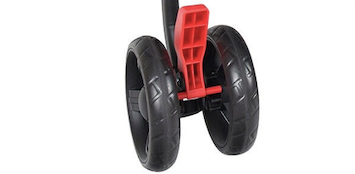 double umbrella stroller rear wheel brake