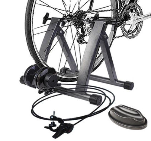 home gym bike trainer five levels of resistance different difficulty levels
