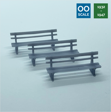 Load image into Gallery viewer, OO scale | GWR bench (3 pack)