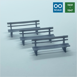 OO scale | GWR bench (3 pack)