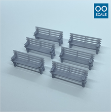 Load image into Gallery viewer, OO scale | Wooden bench (6 pack)