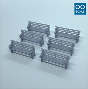 OO scale | Wooden bench (6 pack)