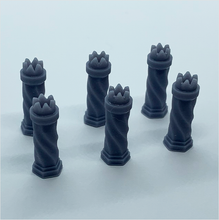 Load image into Gallery viewer, O scale | Chimney pot - Tudor-style 1 (6 pack)