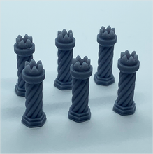 Load image into Gallery viewer, O scale | Chimney pot - Tudor-style 2 (6 pack)