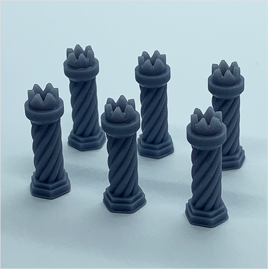 O scale | Chimney pot - Tudor-style 2 (6 pack)