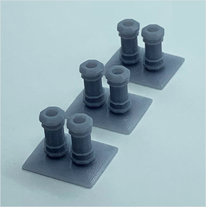 OO scale | Chimney pots - type 1 (3 pack)