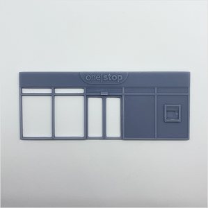 OO scale | Convenience store shopfront - type 1 - One Stop (1 piece)