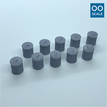 Load image into Gallery viewer, OO scale | Galvanised metal bin (10 pack)