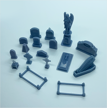 Load image into Gallery viewer, OO scale | Grave yard multipack (19 pieces)