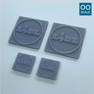 OO scale | Lidl shop sign pack (4 piece)