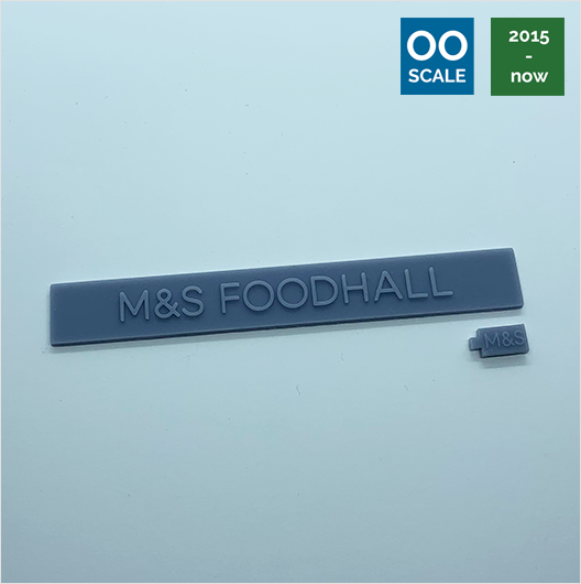OO scale | 2015 M&S Foodhall shop sign set (2 piece)