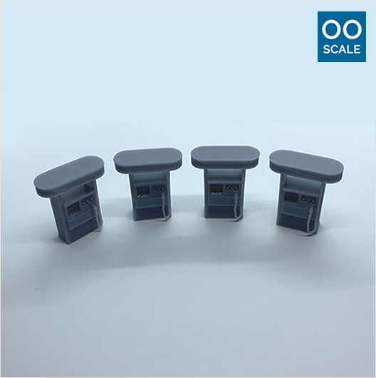 OO scale | Modern petrol pump (4 pack)