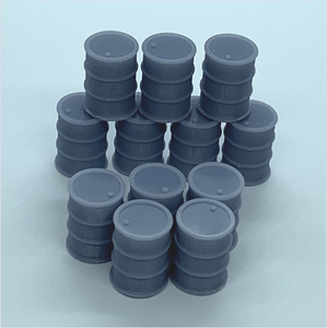 OO scale | 45-gallon oil drum (12 pack)
