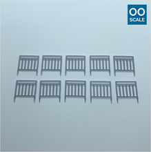 Load image into Gallery viewer, OO scale | Pedestrian railing - narrow (10 pack)