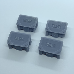 OO scale | Salt and grit bin (4 pack)