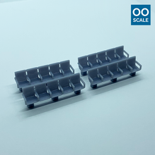 Load image into Gallery viewer, OO scale | Station seating - row of 5 - with arms (4 pack)