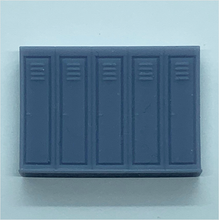 Load image into Gallery viewer, OO scale | Row of five lockers (1 piece)