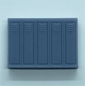 OO scale | Row of five lockers (1 piece)