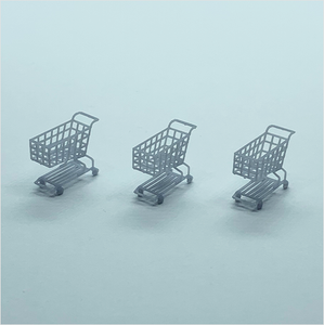 OO scale | Shopping trolley (3 pack)