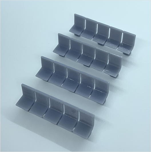OO scale | Station seating - row of 5 (4 pack)