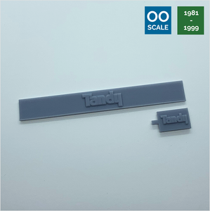 OO scale | 1981 Tandy shop sign set (1 pack)