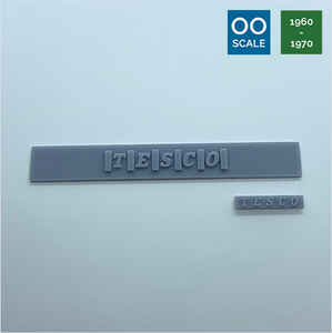 OO scale | 1960 Tesco sign (2 piece)