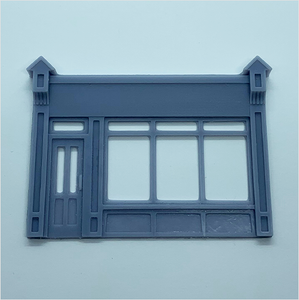 OO scale | Victorian shopfront - type 2 (1 piece)