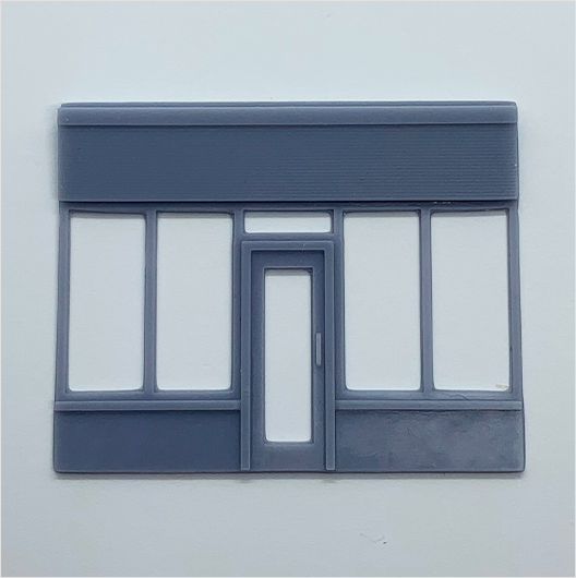 OO scale | Victorian shopfront - parade - type 1 (1 piece)