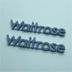 OO scale | Waitrose shop sign (2 pack)