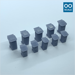 OO scale | Wheelie bin (10 pack)