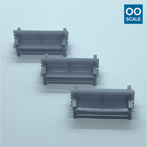 OO scale | Double-sided wooden Bench (3 pack)