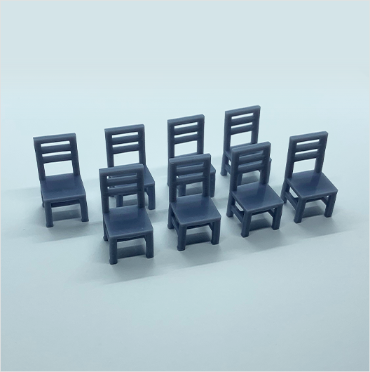 O scale | Wooden chair (8 pack)