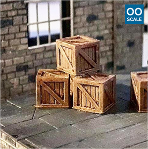 OO scale | Wooden crate (10 pack)