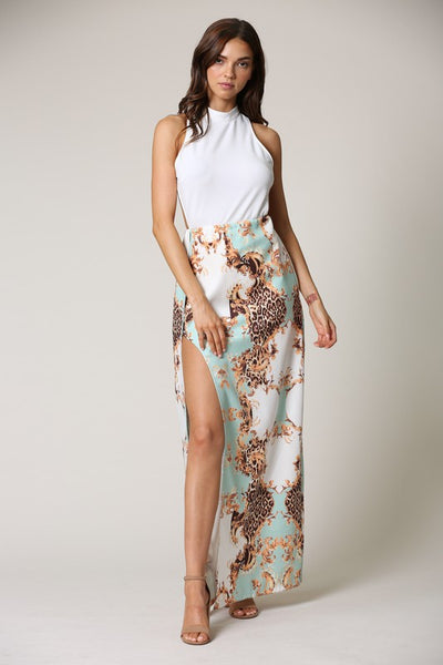 Natalia Luxe Printed Maxi Dress