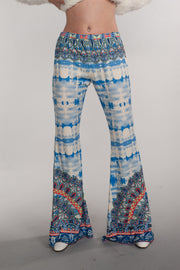 Boho, Bohemian, Print, Floral, Pants, Casual Wear, Bottoms, High Waisted Pants, Classic Pants, Festival Outfit, Multi